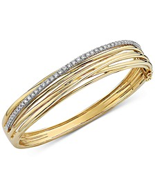 EFFY® Diamond Multi-Row Bangle Bracelet (7/8 ct. t.w.) in 14k Gold