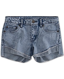Little Girls Step Up Shorty Denim Shorts