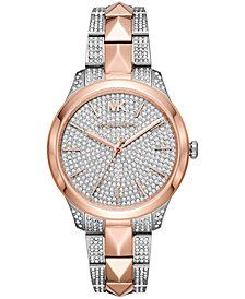 Michael Kors Women's Runway Mercer Two-Tone Stainless Steel Bracelet Watch 38mm