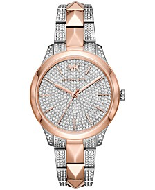 Michael Kors Women's Runway Mercer Two-Tone Stainless Steel Bracelet Watch 38mm
