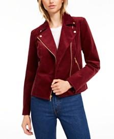 Maison Jules Corduroy Moto Jacket, Created for Macy's