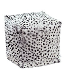 Spotted Goat Fur Pouf