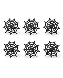 Design Imports Spider Web Napkin Ring, Set of 6