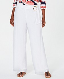 Belted Wide-Leg Pants, Created for Macy's