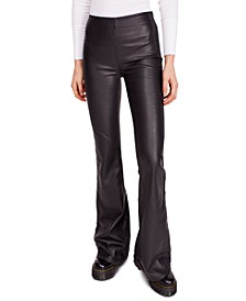 Penny Pull-On Faux-Leather Pants