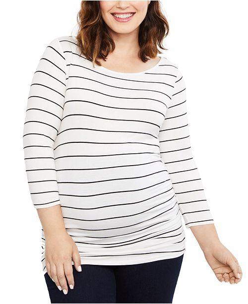Motherhood Maternity Ruched Long-Sleeve Tee