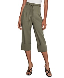 Cuffed Box-Pleat Pants