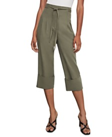 BCBGMAXAZRIA Cuffed Box-Pleat Pants