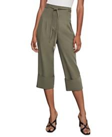 BCBGMAXAZRIA Cuffed Box-Pleat Pants