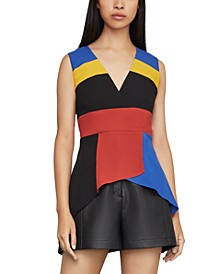 Colorblocked Peplum Top
