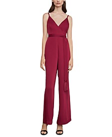 Satin Wide-Leg Jumpsuit