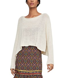 BCBGMAXAZRIA Asymmetrical-Hem Boxy Sweater