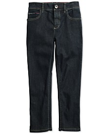 Tommy Hilfiger Adaptive Big Boys Graham Straight Fit Jeans with Adjustable Waist & Hem