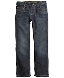 Big Boys Relaxed Fit Jeans with Adjustable Waist & Magnetic Button