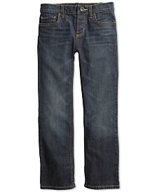 Tommy Hilfiger Adaptive Big Boys Relaxed Fit Jeans with Adjustable Waist & Magnetic Button