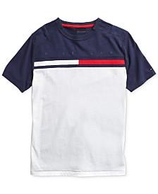 Tommy Hilfiger Adaptive lLittle Boys T-Shirt with Adjustable Shoulder Closure