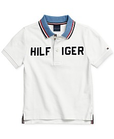 Tommy Hilfiger Adaptive Big Boys Polo Shirt with Magnetic Buttons
