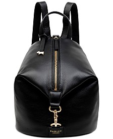 Radley London Zip Top Leather Backpack