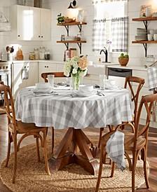 """Farmhouse Living Buffalo Check 70"""" Round Tablecloth"""