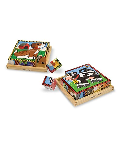 Melissa and Doug Cube Puzzle Combo
