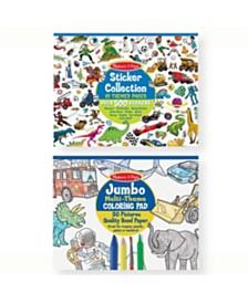 Melissa and Doug Boys Coloring / Sticker Pad Bundle