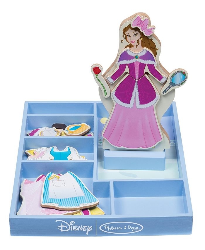Melissa and Doug - Belle Wooden Magnetic Dress-Up
