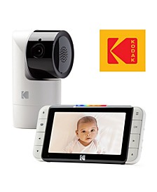"Cherish C525 Video Baby Monitor With Mobile App - 5"" Hd Screen - Hi-Res Baby Camera With Remote Tilt, Pan And Zoom, Two-Way Audio, Night-Vision, Long Range"