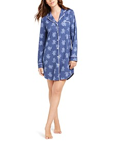 Sueded Super Soft Knit Sleepshirt Nightgown, Created for Macy's