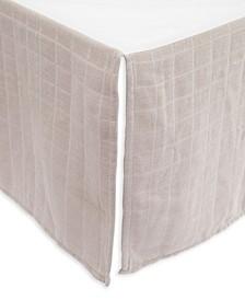 Warm Grey Cotton Muslin Crib Skirt