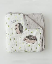 Little Unicorn Hedgehog Deluxe Muslin Quilt