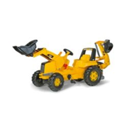 Rolly Toys Cat Kid Backhoe Pedal Tractor with Front Loader