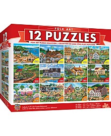 Masterpieces Folk Art Puzzles 12 Pack