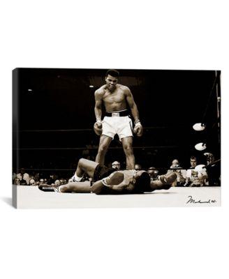 "Muhammad Ali vs. Sonny Liston, 1965 by Muhammad Ali Enterprises Wrapped Canvas Print - 26"" x 40"""