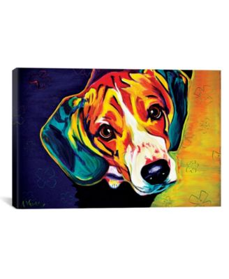 Beagle Bailey by Dawgart Wrapped Canvas Print - 26