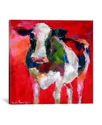 "Cow by Richard Wallich Wrapped Canvas Print - 18"" x 18"""