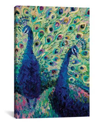 Gemini Peacock by Iris Scott Wrapped Canvas Print - 40