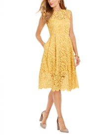 Vince Camuto Lace Midi Dress