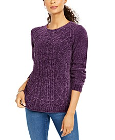 Cable-Knit Chenille Sweater, Created for Macy's