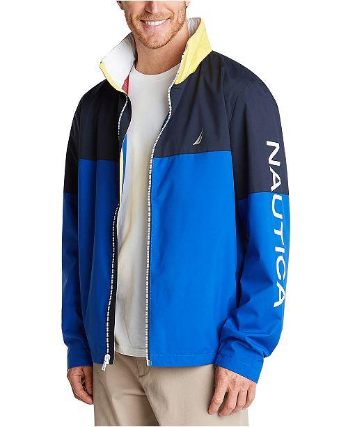 Nautica Men's Colorblock Lightweight Jacket
