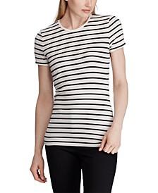 Stripe-Print Stretch T-Shirt