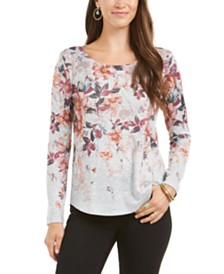 Style & Co Floral-Print Top, Created for Macy's