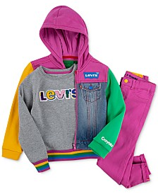 Levi's®x Crayola Little Girls Colorblock Collection