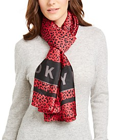 Cheetah and Logo Scarf