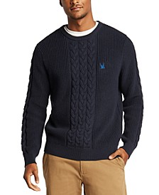 Men's Blue Sail Classic-Fit Cable Knit Sweater, Created for Macy's