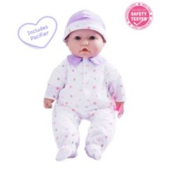 """La Baby Caucasian 16"""" Soft Body Baby Doll Purple Outfit"""