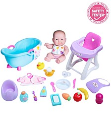 """Lots to Love Babies Baby Doll 10"""" Deluxe Set - For Children 2 Years and older, Designed by Berenguer"""