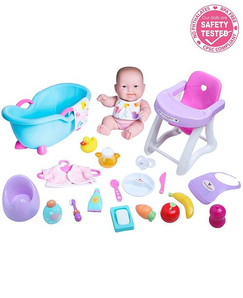JC TOYS Lots to Love Babies Baby Doll 10 inch Deluxe Set - For Children 2 Years and older, Designed by Berenguer.