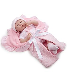 JC Toys, Soft Body La Newborn 15.5 inch Baby Doll in Pink Deluxe Gift Set - For Children 2 Years and older, Designed by Berenguer.