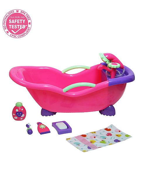 JC TOYS For Keeps Baby Doll Bathtub and Accessories with Real Working Shower Fits Most Dolls Up to 17 inch - For Children 2 Years and older