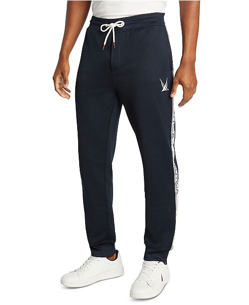 Nautica Men's Blue Sail French Terry Logo Joggers, Created for Macy's